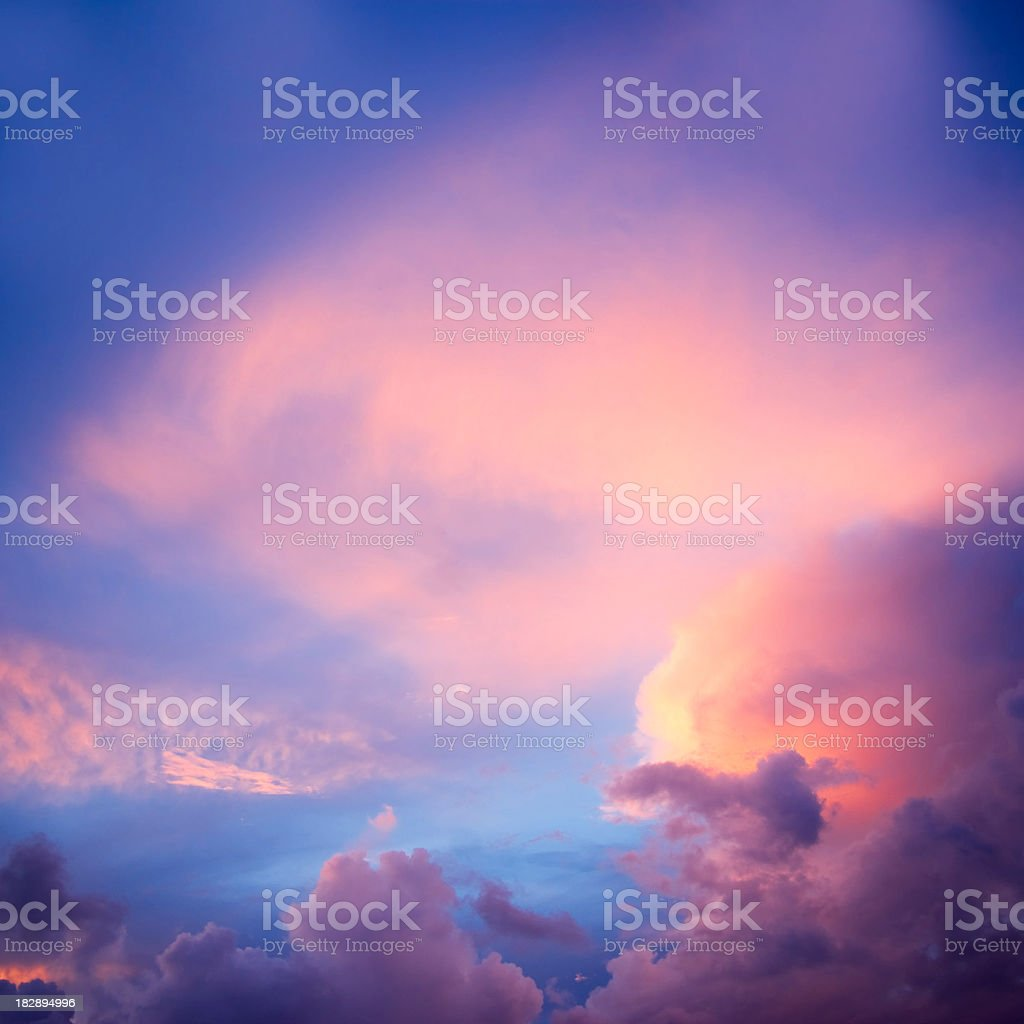 dramatic colorful evening sky royalty-free stock photo