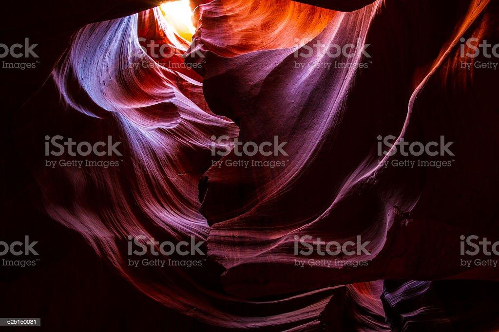 Dramatische Farben auf Wänden eines Slot Canyon Arizona – Foto
