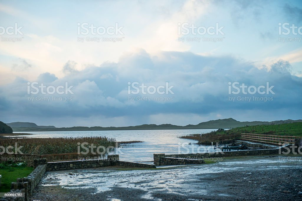 Dramatic countryside in Donegal, Ireland stock photo