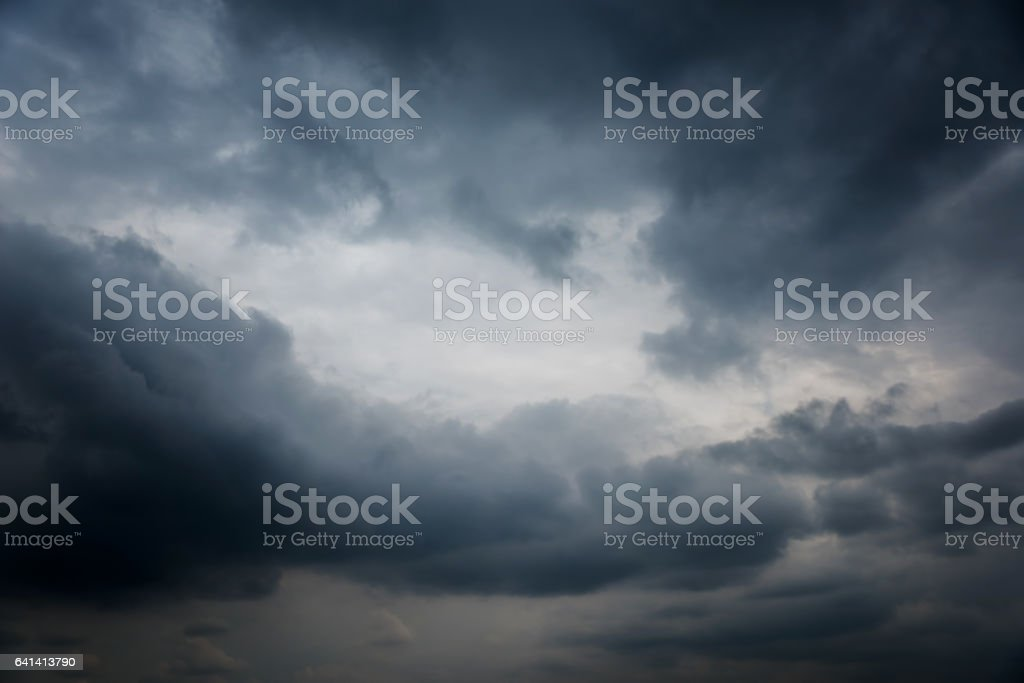Dramatic dark sky and black clouds royalty-free stock photo