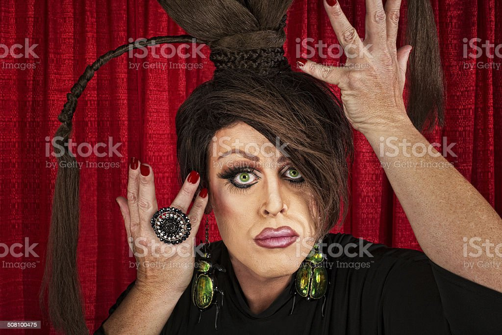 Dramatic Drag Queen stock photo