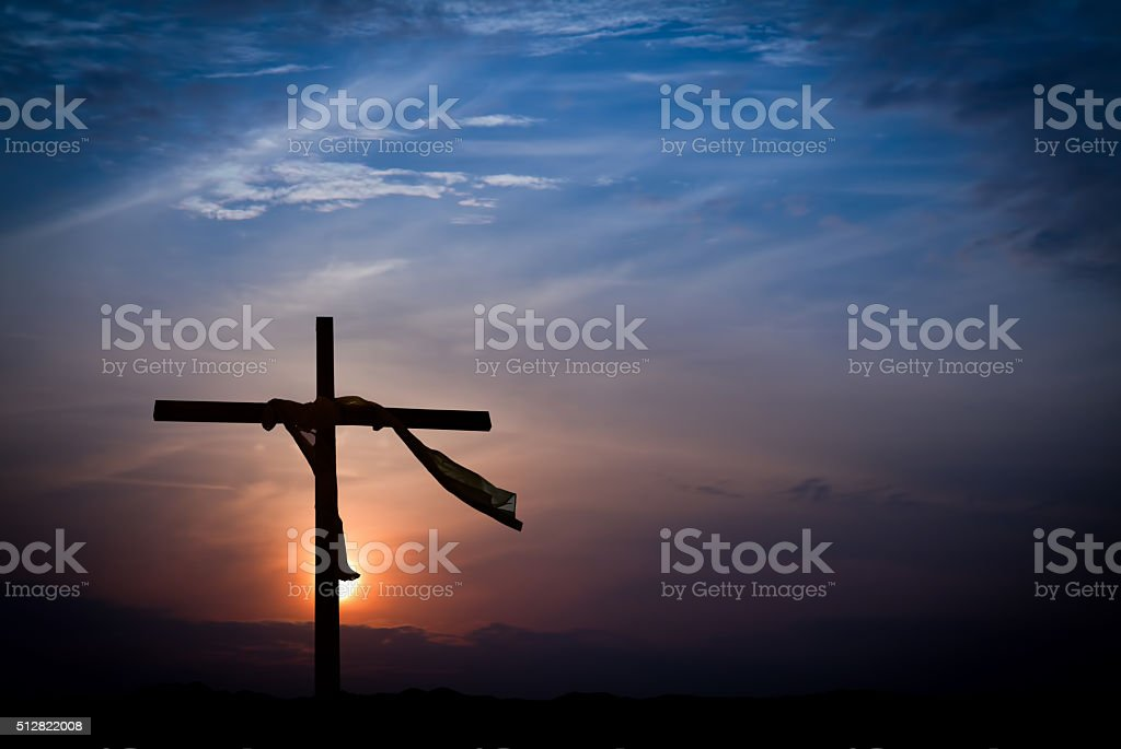 Dramatic Easter Morning Sunrise stock photo