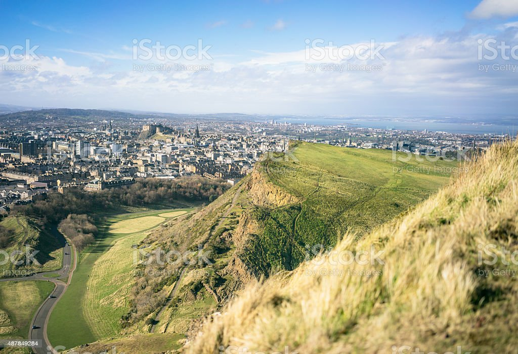 Dramatic Edinburgh from Arthur's Seat stock photo