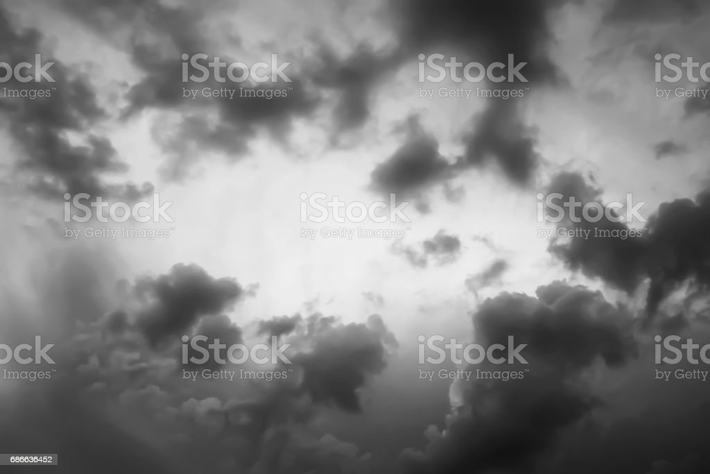 Dramatik akşam gökyüzü ve fırtına bulutları oluşumu. royalty-free stock photo