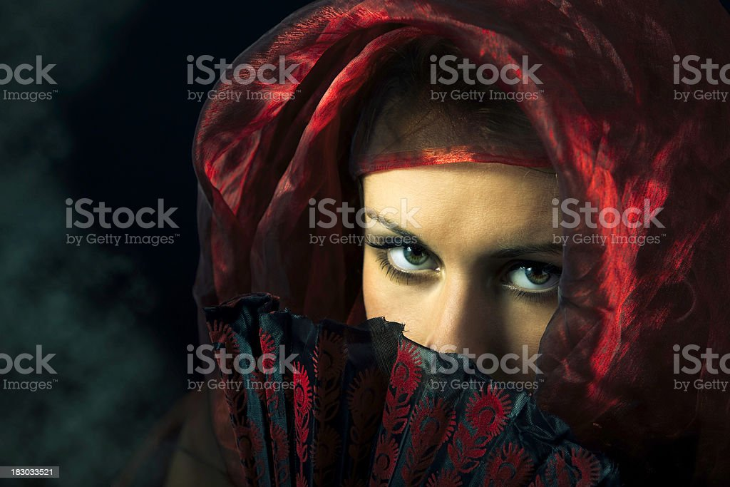 Dramatic Eyes royalty-free stock photo