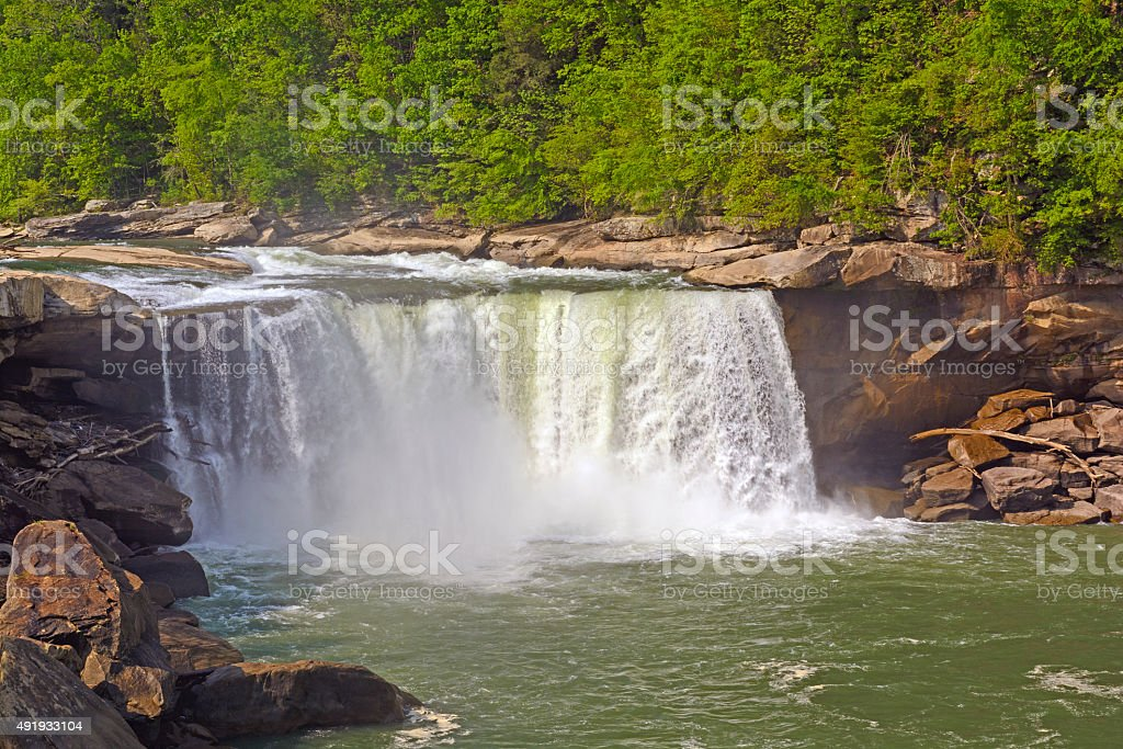 Dramatic Falls in the Spring stock photo