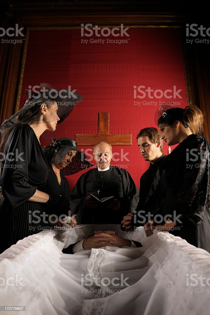 Dramatic Funeral royalty-free stock photo