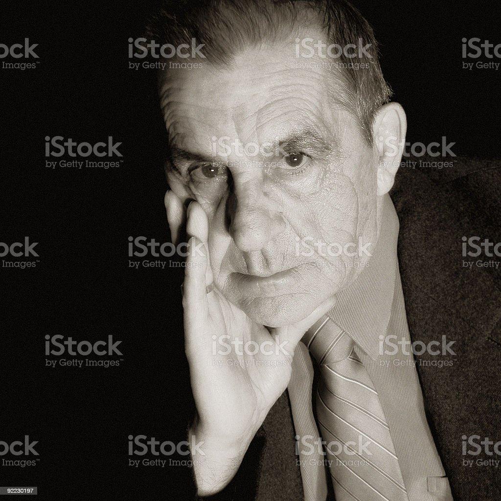 Dramatic Gentleman stock photo