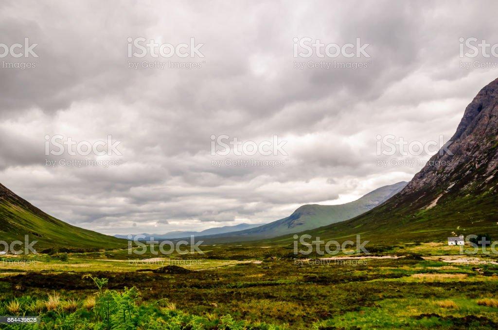 dramatic Glencore valley in Scotland stock photo