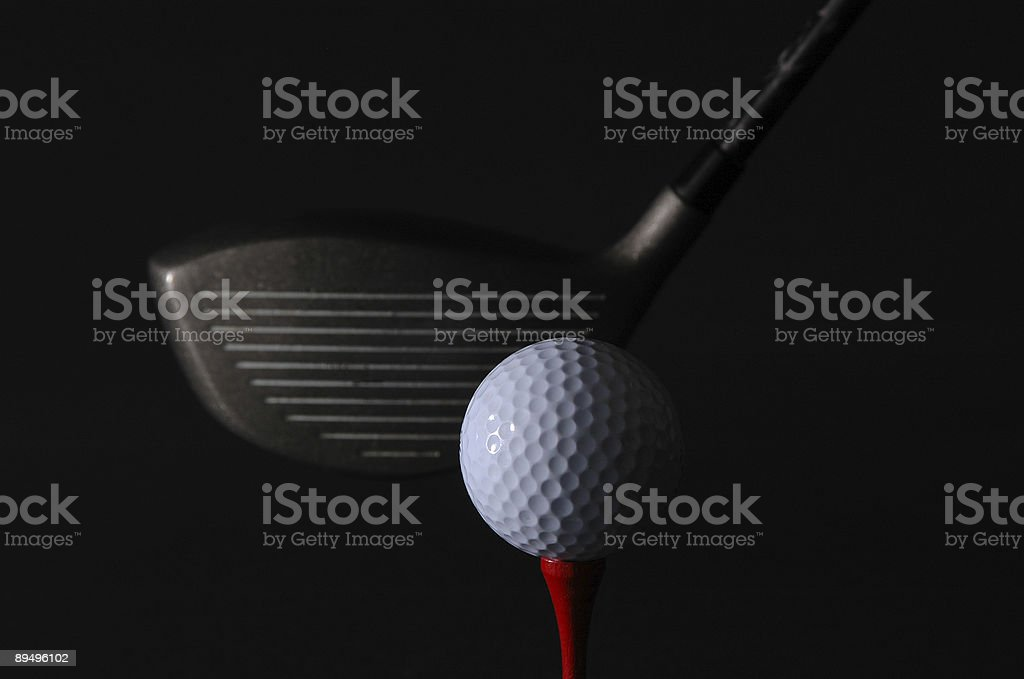 Dramatic Golf Shot royalty free stockfoto