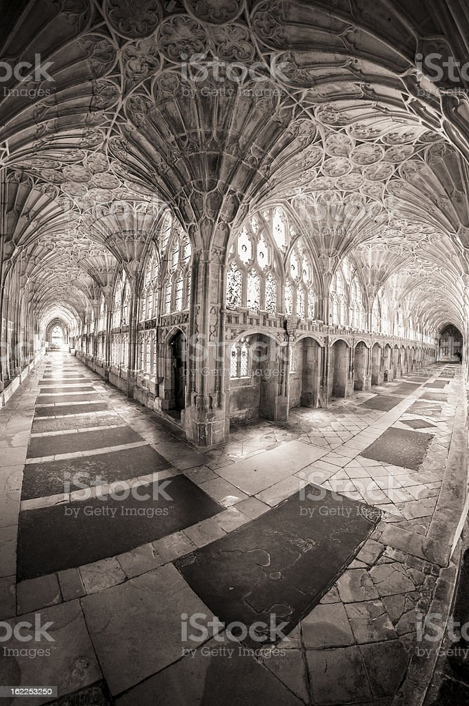 Dramatic Gothic Cathedral royalty-free stock photo