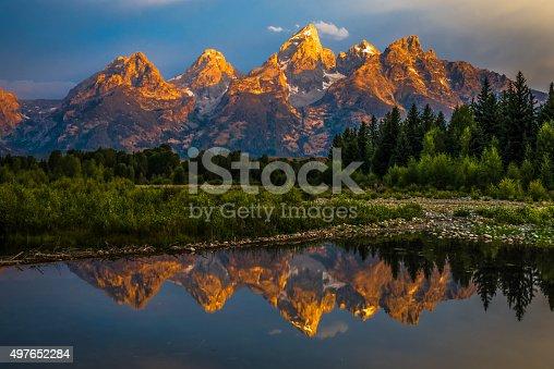 istock Dramatic Grand Teton Sunrise 497652284