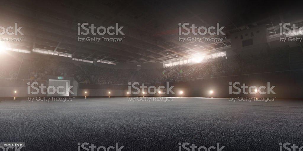 Dramatic gymnastic stadium stock photo
