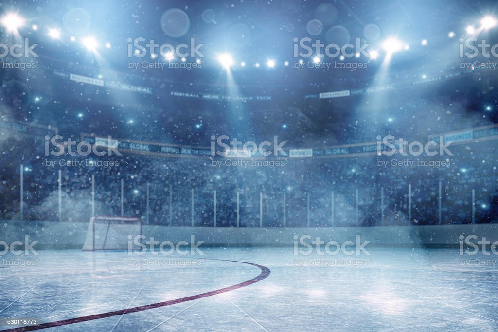 Dramatische ice hockey arena – Foto