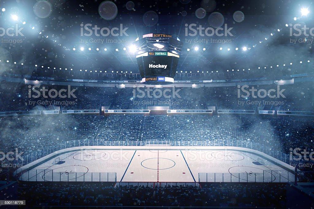 Superbe stade de hockey sur glace - Photo