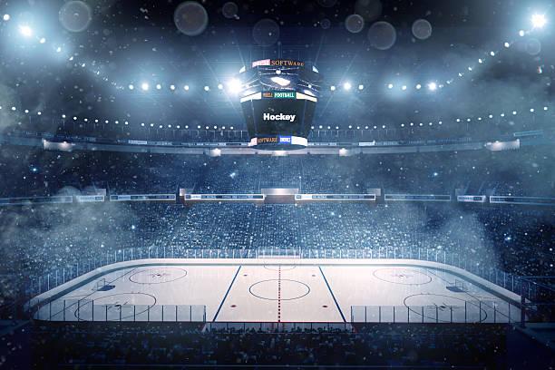 impresionante estadio de hockey sobre hielo - hockey fotografías e imágenes de stock