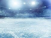 istock Dramatic ice hockey arena 530118781