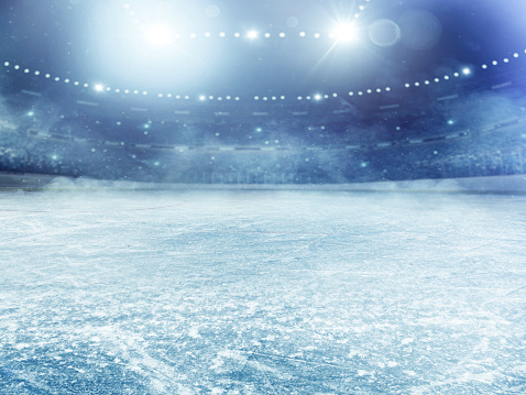 Spettacolare Arena Di Hockey Su Ghiaccio - Fotografie stock e altre immagini di Ambientazione interna
