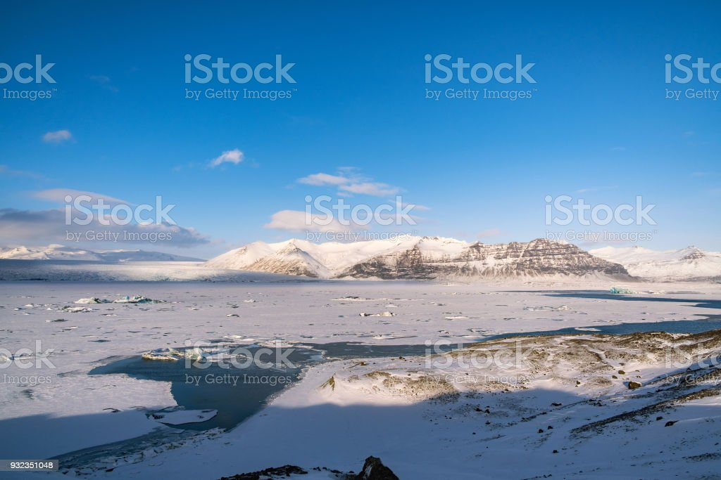 Dramatic icelandic landscape. stock photo