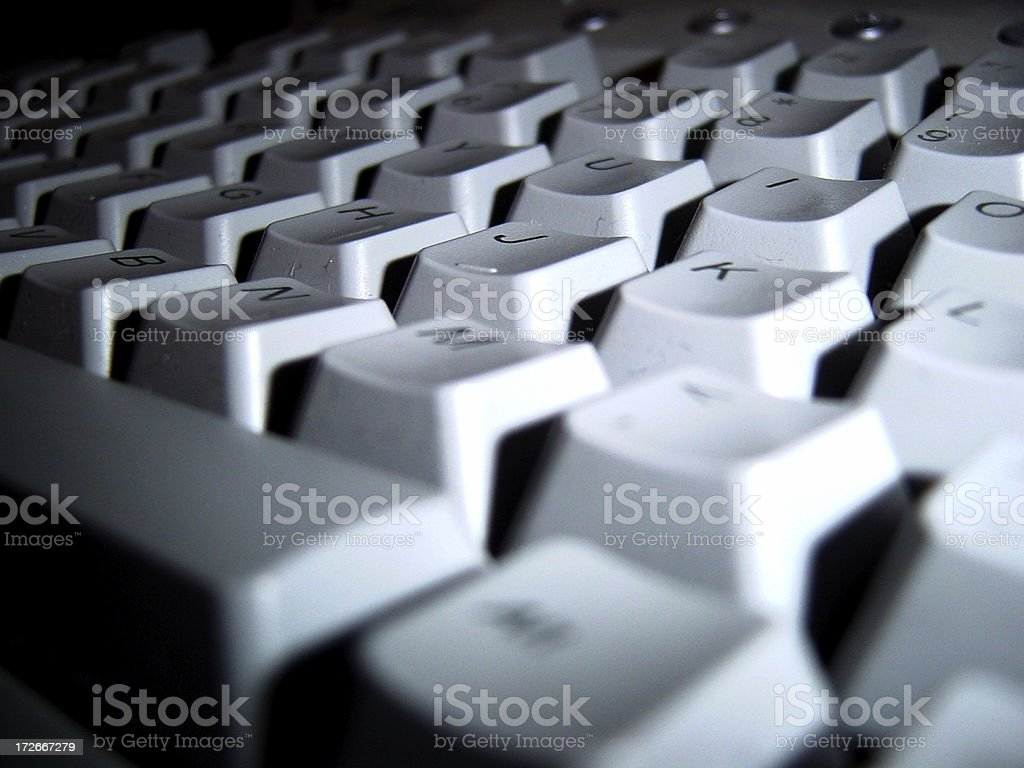 Dramatic Keyboard royalty-free stock photo