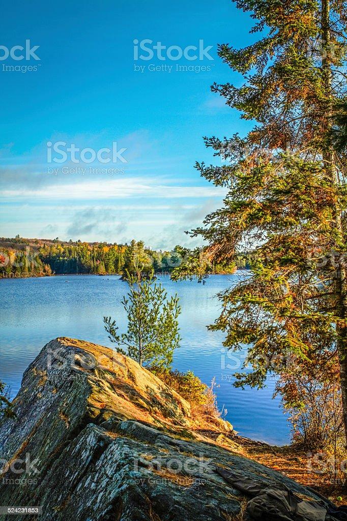 Dramatic Lake Wilderness stock photo
