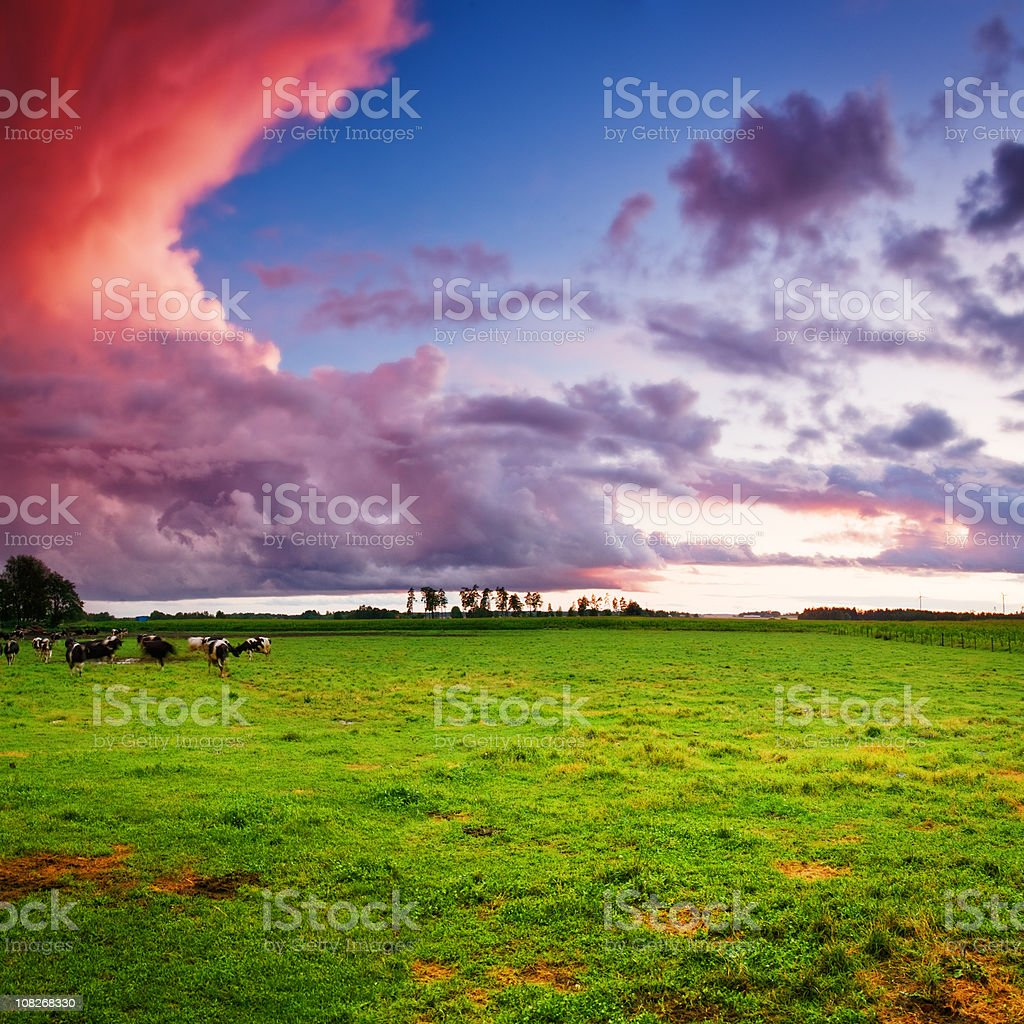 Dramatic landscape at dusk royalty-free stock photo