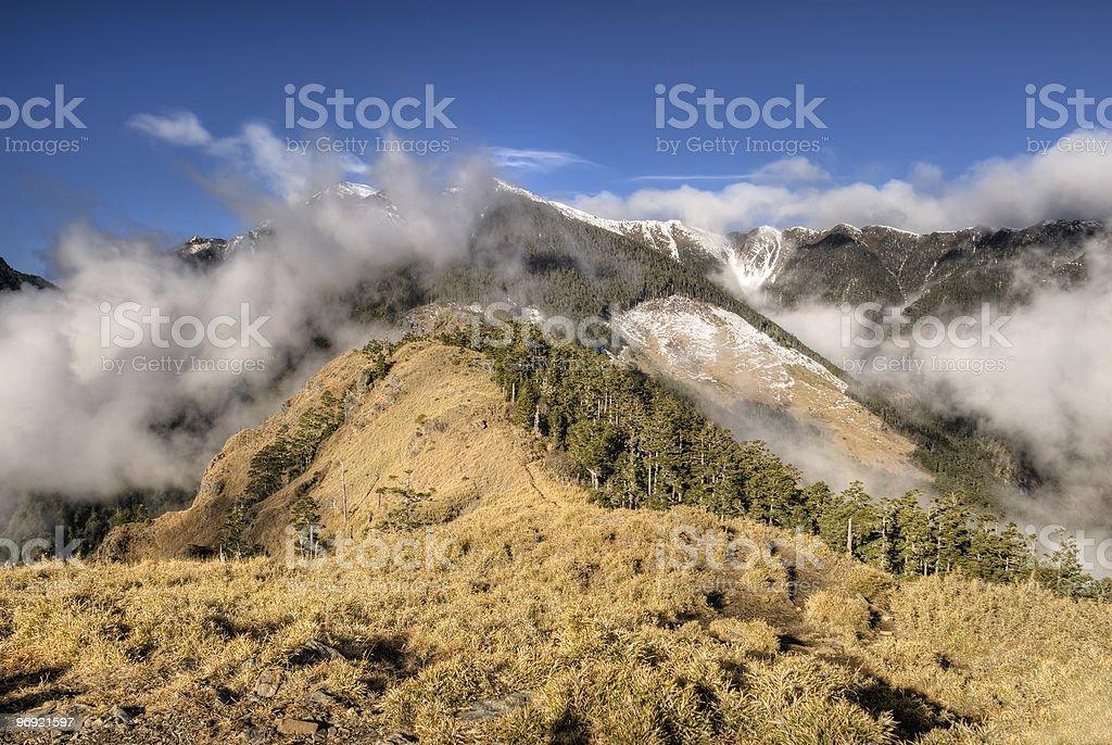 Dramatic landscape of mountain royalty-free stock photo