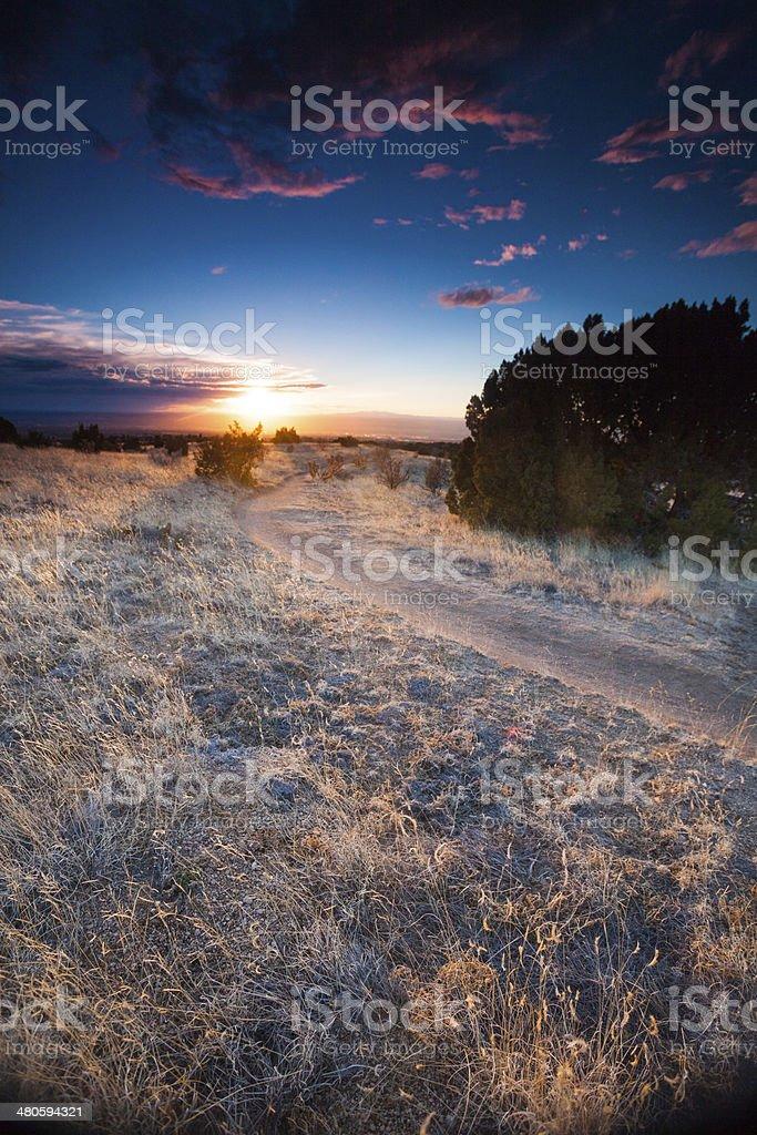 dramatic landscape sunset royalty-free stock photo
