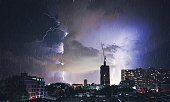 Dramatic Lightning Strike In Bangkok, Thailand