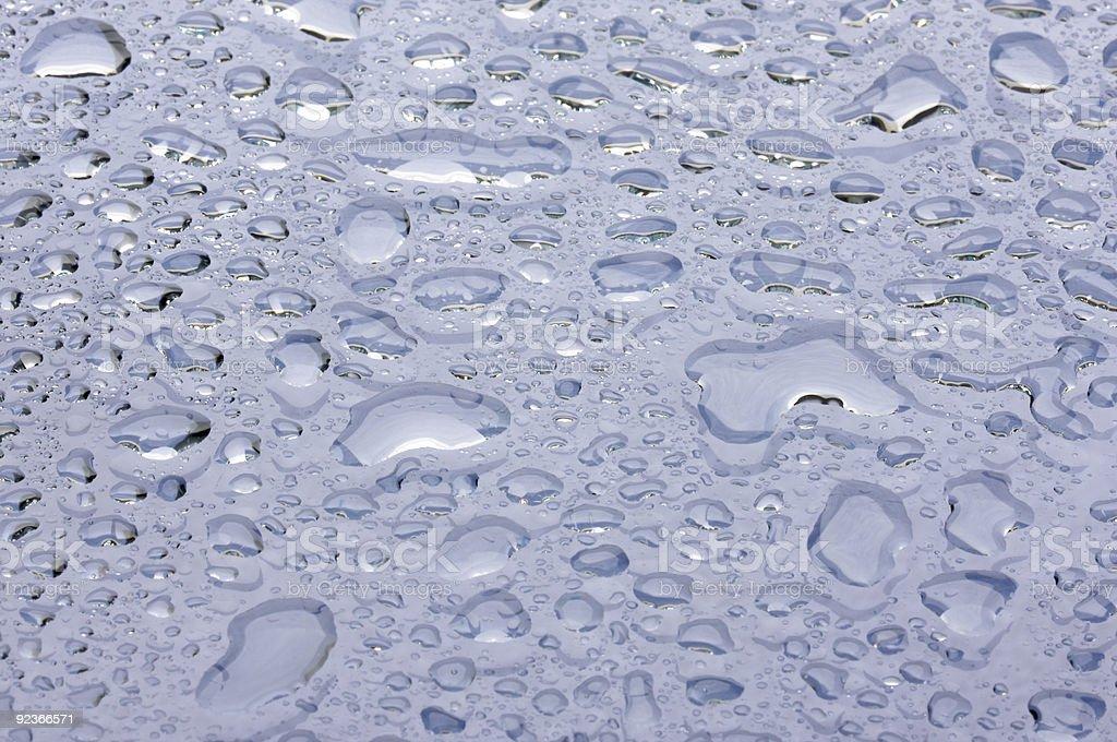 Dramatic Macro Water Drops royalty-free stock photo