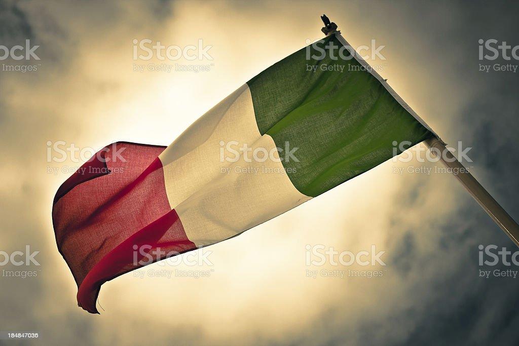Dramatic Mood for Italian Flag royalty-free stock photo