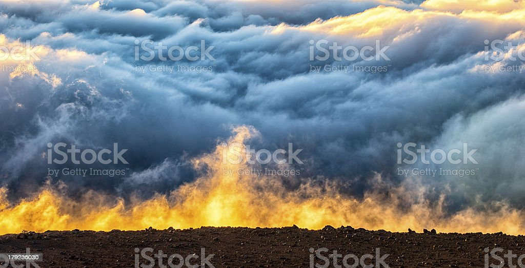 Dramatic Morning Clouds (XL Large) royalty-free stock photo