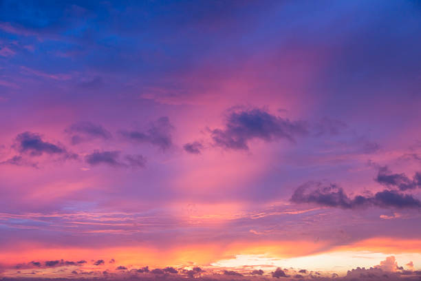 Céu Dramático manhã - foto de acervo
