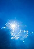 Sunbeam Through Clouds in Summer