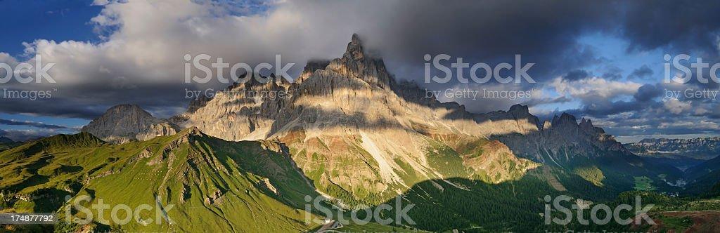 Dramatic Mountain Landscape (Pale di San Martino - Dolomites, Italy) stock photo