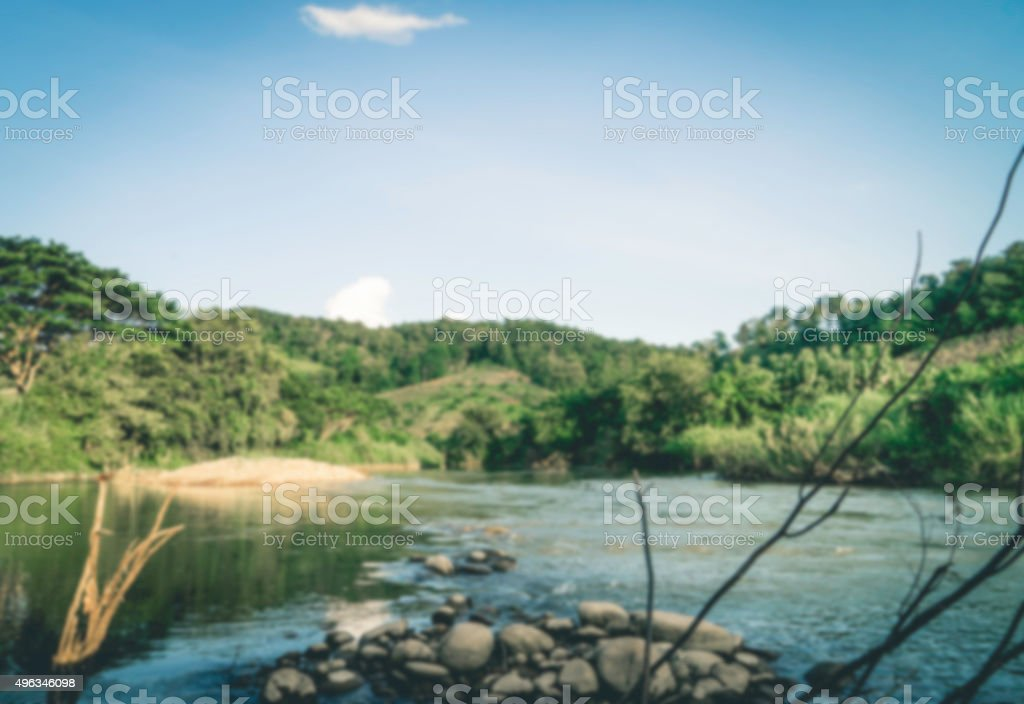 Dramatic Mountain river blurred for backgorund stock photo