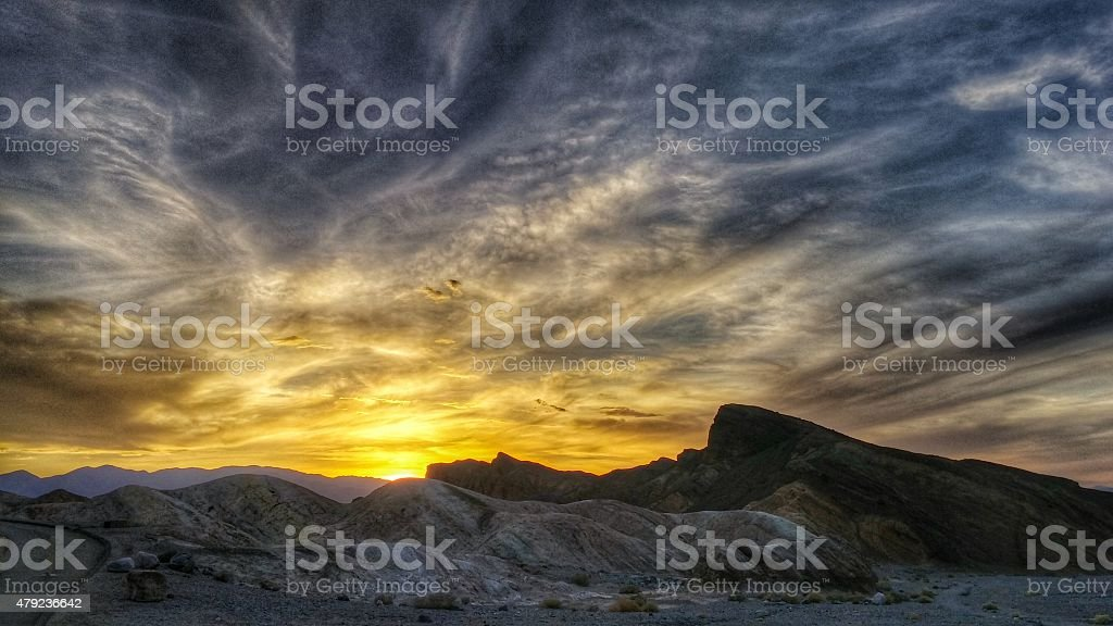 Dramatic Mountain Sunset at Death Valley National Park, California - Royalty-free 2015 Stock Photo