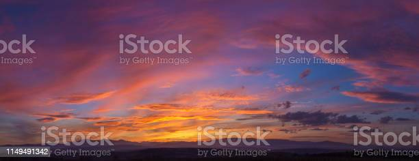 Photo of Dramatic Mountain Sunset Panorama