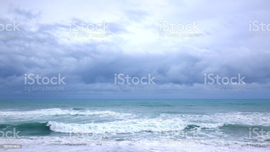 Dramatic ocean tide royalty-free stock photo
