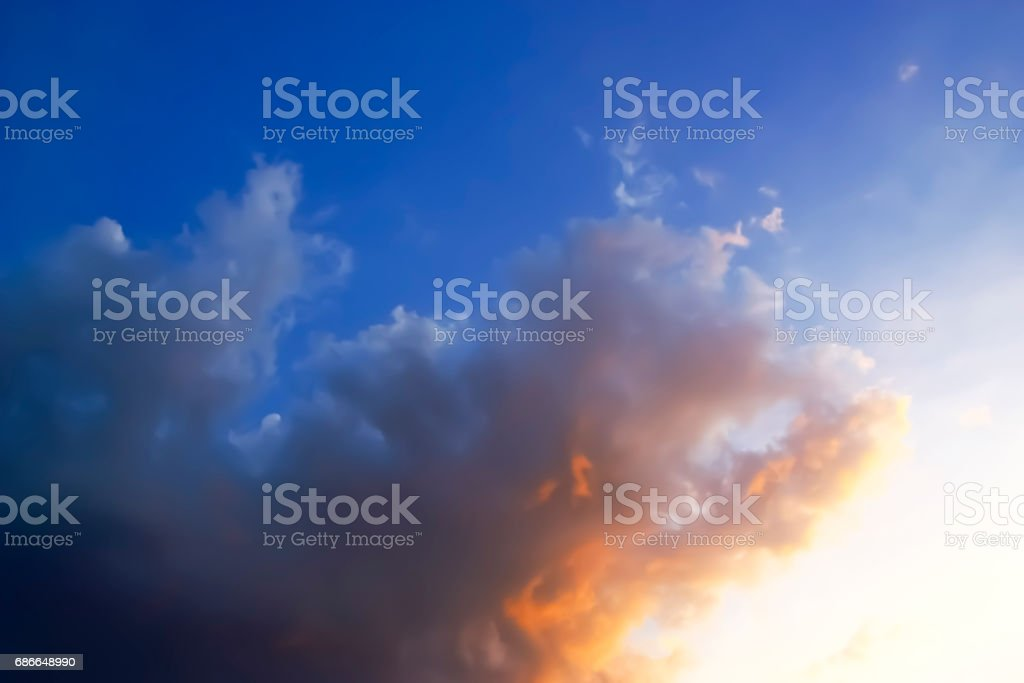 Dramatic of sunset sky and clouds. royalty-free stock photo