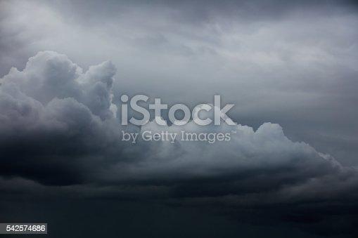istock Dramatic ominous sky 542574686