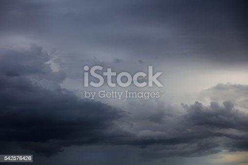 istock Dramatic ominous sky 542576426