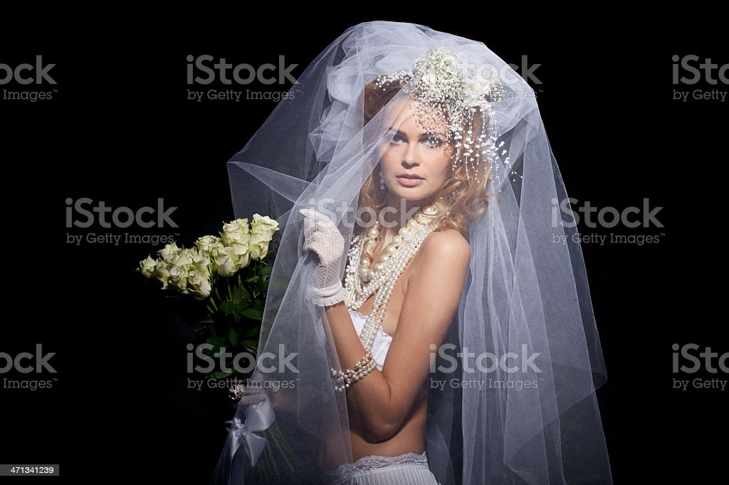 Dramatic portrait of a bride royalty-free stock photo