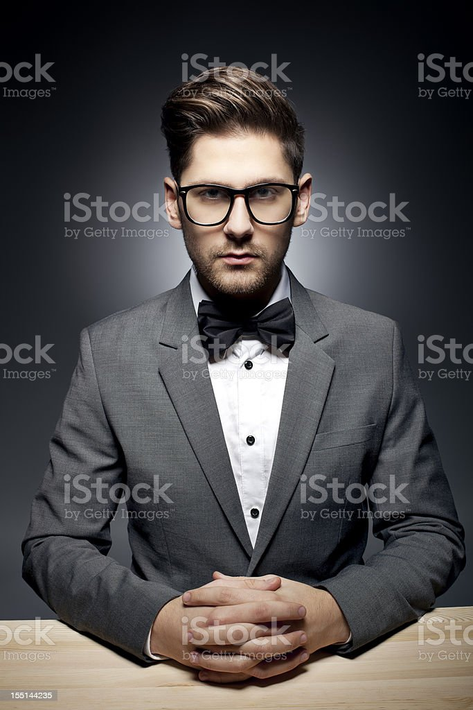 Dramatic Portrait of a young man royalty-free stock photo