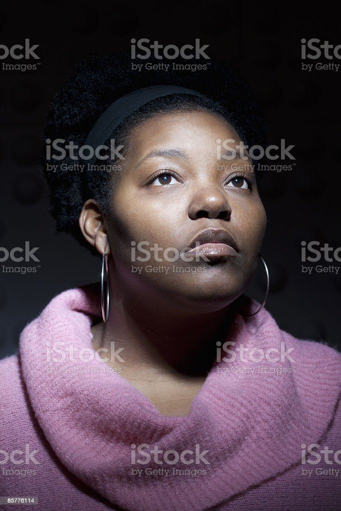 Dramatic portrait of African American woman royalty-free stock photo