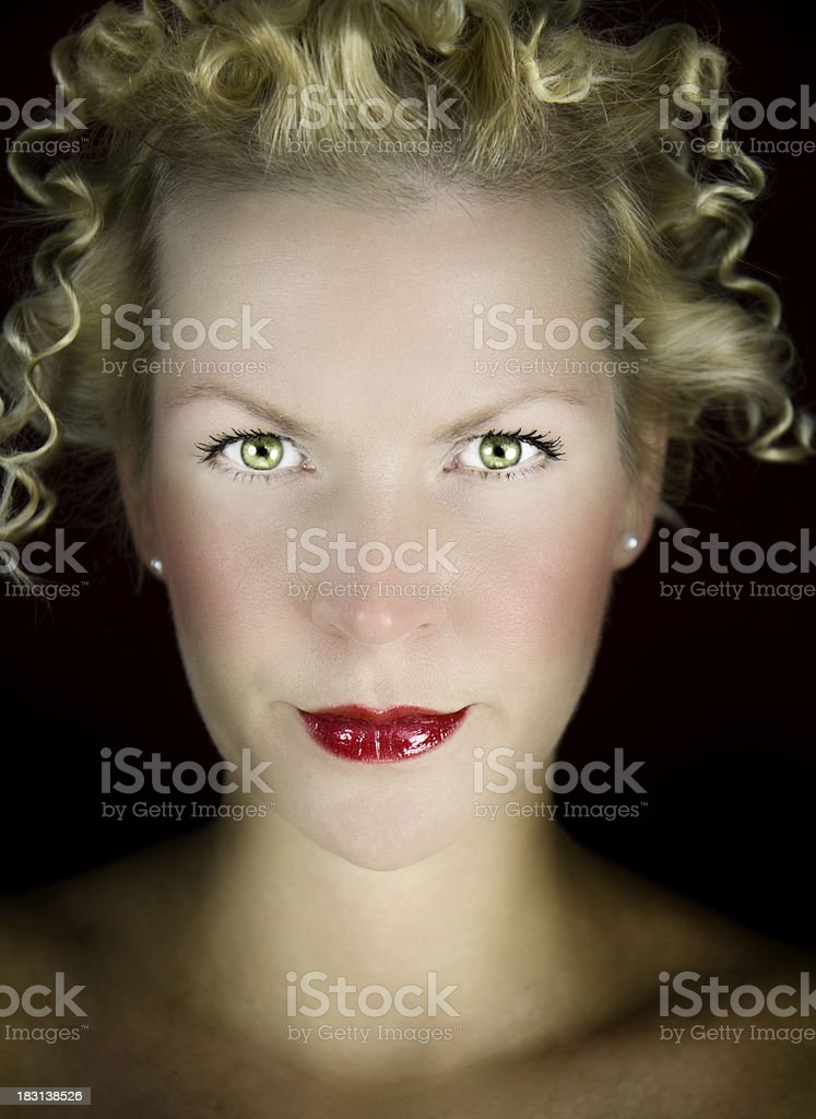 Dramatic Portrait stock photo
