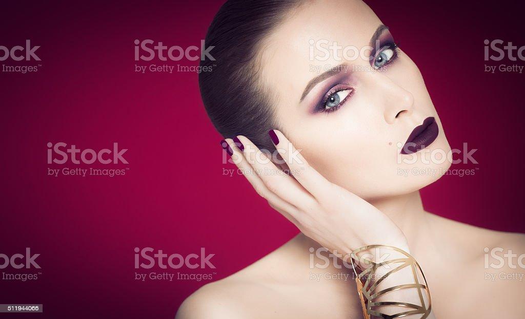 Dramatic Purple Beauty stock photo