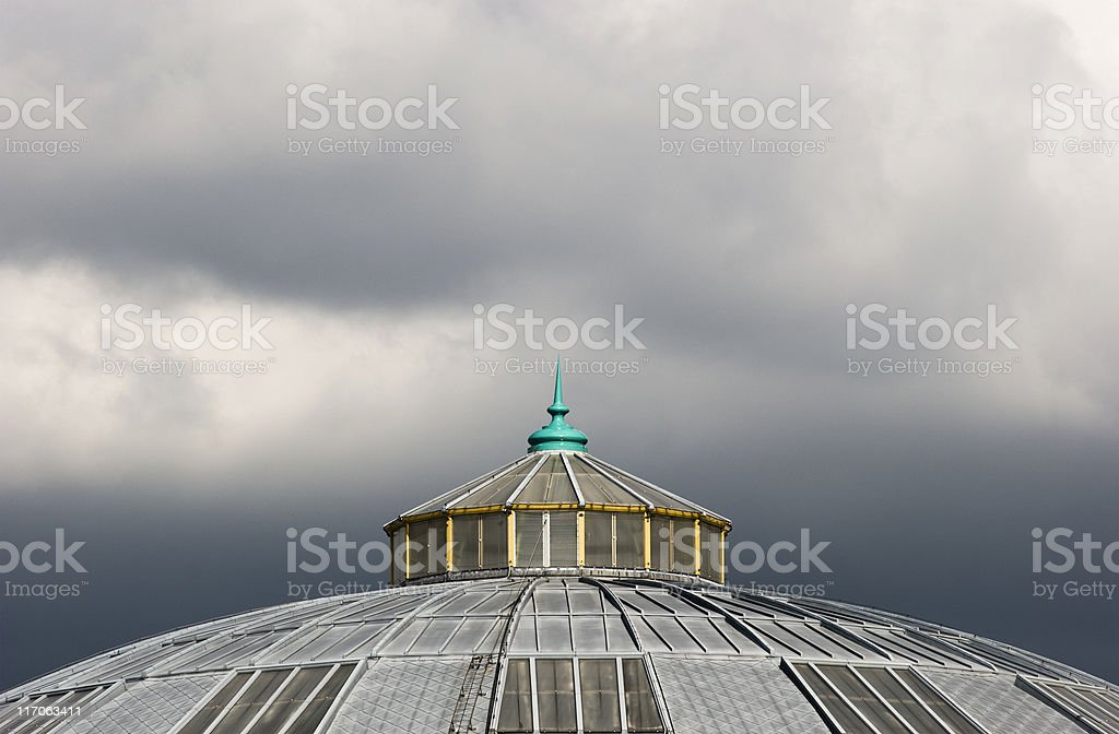 Dramatic roof top stock photo