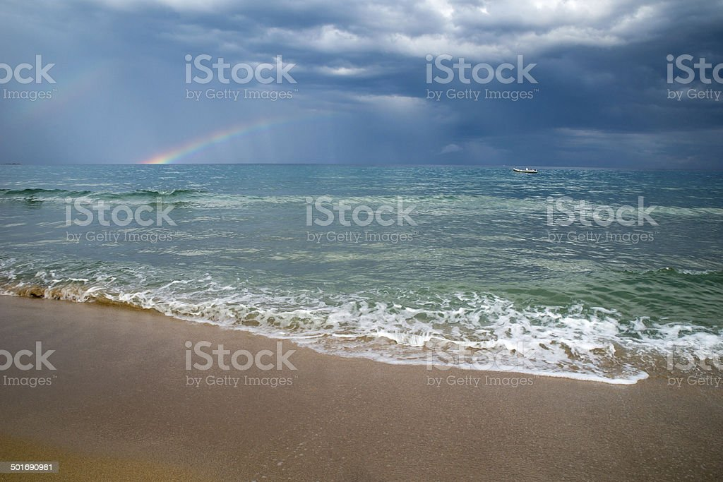 Dramatisches Meer stock photo