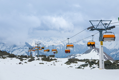 Dramatic skiing scenery in Ischgl and Samnaun ski resort